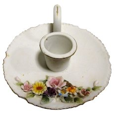 Darling Lefton Hand Painted Porcelain Candlestick No. KW4745