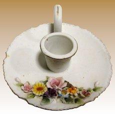 Darling Lefton Hand Painted Porcelain Candlestick No. KW4745
