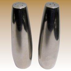 "Stainless Danish Mid Century Modern Dansk ""Odin"" Salt & Pepper, Jens Quistgaard Design"