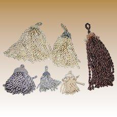 6 Handmade Decorator Fringe Tassels