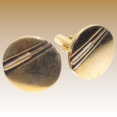 Elegant Swank Retro Cuff Links, Bull Rush Design