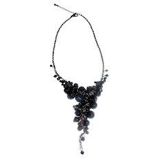 "Drippy Glass Crystal Goth 16"" Necklace"