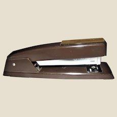 Vintage Retro Swingline Metal Stapler Model 94-41 747, Heavy Duty Brown, Made in USA