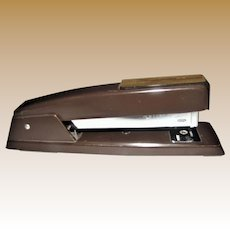 Vintage Retro Swingline Metal Stapler Model 94-41 747, Heavy Duty Brown, Made in USA