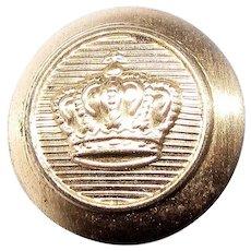 WW1 German Tunic Button, Prussian Crown