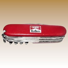 "Victorinox Swiss Army ""MARLBORO"" Outdoorsman Knife"