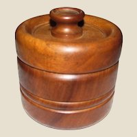 Art Deco Oak Humidor w/ Unique Brass Humidifier in Lid