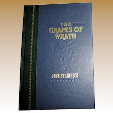 The Grapes of Wrath by John Steinbeck, Luxury Edition HC 1/4 Faux Leather, 1991, Like New