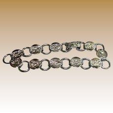 Signed Sarah Coventry Silvertone Link Bracelet