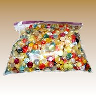Over 1lb Bag of Small Pastel Hard Plastic Buttons