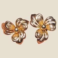 Art Deco Gold Fill Earrings by Fostner