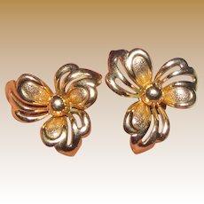 WWII Gold Fill Earrings by Fostner