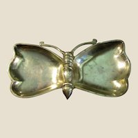 "9"" Brass Butterfly Trinket or Ash Tray"