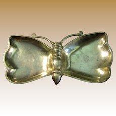 "9"" Brass Butterfly Trinket or Ash Tray"