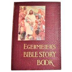 Egermeier's Bible Story Book, Elsie E. Egermeier, 1930s, Illustrated, HC