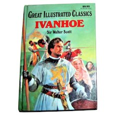 Ivanhoe (Great Illustrated Classics) by Sir Walter Scott, HC, 1994 1st Edition, Children's Book Age 9-11, Nearly New
