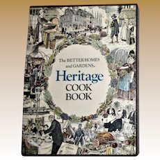 """Better Homes and Gardens """"Heritage Cookbook"""" with Box, 1975 HCDJ First Edition Eighth Printing, Near Mint"""