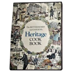 "Better Homes and Gardens ""Heritage Cookbook"" with Box, 1975 HCDJ First Edition Eighth Printing, Near Mint"