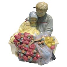Large Chalkware Figurine of Children