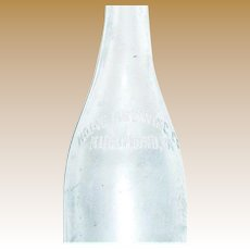 1890's Home Brewing Co. Aqua Blown Glass Bottle, Richmond VA