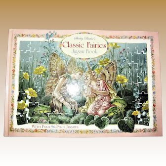 Classic Fairies Jigsaw Book : With Four 96-Piece Jigsaw Puzzles Shirley Barber, Like New
