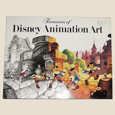 Treasures of Disney Animation Art by Canemaker & Abrams HCDJ 1982 1st Edition 6th Printing, Coffee Table Book, Like New