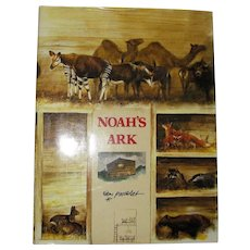 Noah's Ark by Rien Poortvliet, 1986 HCDJ, Coffee Table Book, Illustrated