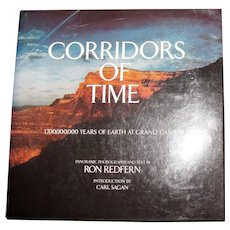 Corridors of Time - Grand Canyon by Ron Redfern & Carl Sagan, Coffee Table Book, HCDJ 1980, Nearly New