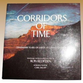 Corridors of Time - Grand Canyon by Ron Redfern & Carl Sagan, Coffee Table Book, HCDJ 1980, Nearly New