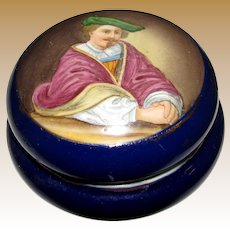 Antique Royal Vienna Hand Painted Portrait Porcelain Trinket /Jewelry Box
