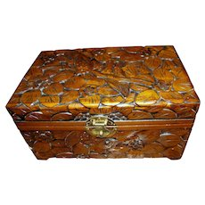 """Vintage Chinese Hand Carved Camphor 12"""" Chest"""