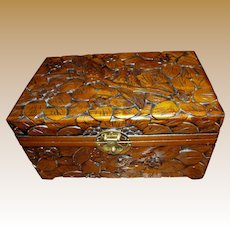 "Vintage Chinese Hand Carved Camphor 12"" Chest"