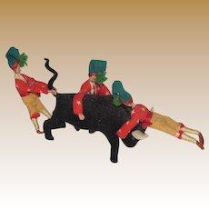 Mid-Century Portuguese Bull Fighting Souvenir Ornament
