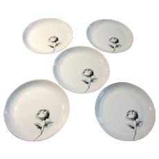 """Five Block """"Rosa"""" 7 7/8"""" Plates"""