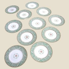 "Eleven Antique Wedgwood Hand Enameled 8"" Plates"