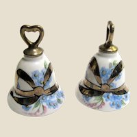 Vintage Hand Painted Wedding Bells Salt Shakers (1)