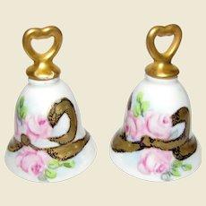 Vintage Hand Painted Wedding Bells Salt Shakers (2)