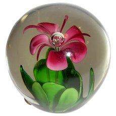Exquisite Art Glass Paperweight by Enesco