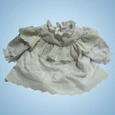 Broderie Anglaise Factory Dress for Chunky Toddler Doll or Bear