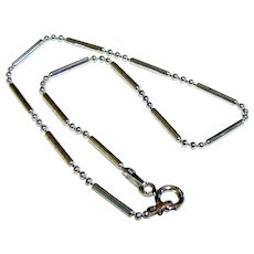 Italian Shiny Sterling Snake Bead Ankle Chain