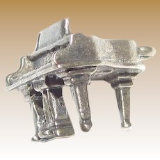 1950's Beau Sterling Silver Piano Charm, 3.4 grams