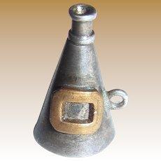 Circa 1950's Megaphone Sterling Silver Charm 1.6 grams