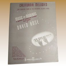 1943 California Melodies, Sheet Music by David Rose, Piano