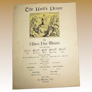 1935 'THE LORD'S PRAYER' by Albert Hay Malotte for Voice and Piano