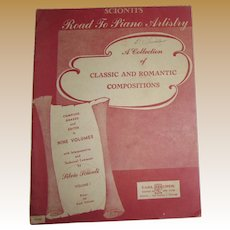 "1944, Sheet Music Road to Piano Artistry ""Collection of Classic & Romantic"" Volume 1"
