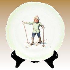 """Antique Porcelain German Child's Plate c.1910, 5 1/4"""""""