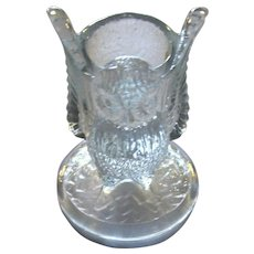 Vintage Westmoreland Glass Owl Figural Toothpick Holder