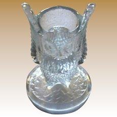 Vintage Westmoreland Glass Owl Figural Toothpick Holder