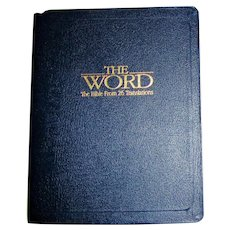 The Word: The Bible from 26 Translations Premium Bonded Leather in Box, Like New