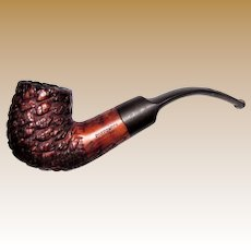 Vintage Italian Estate Pipe, Potpourri Made in Italy, Large Briar Desk Pipe, Sandblasted Finish